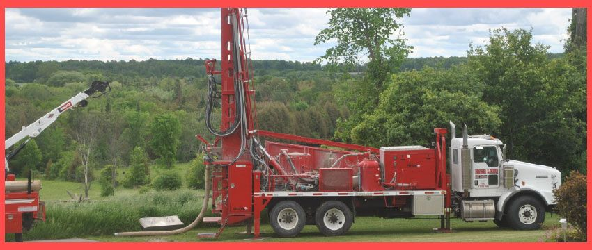 Lang Herb Well Drilling Ltd. truck